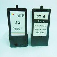 2 Combo Pack Ink Cartridge For Lexmark 32 33 Lex 32 Lex 33 X5250