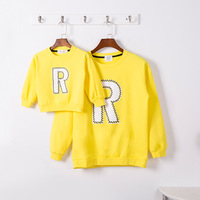 お母さんママと娘服母息子衣装レタープリント子供綿長袖男の子ジャケットセーター子供