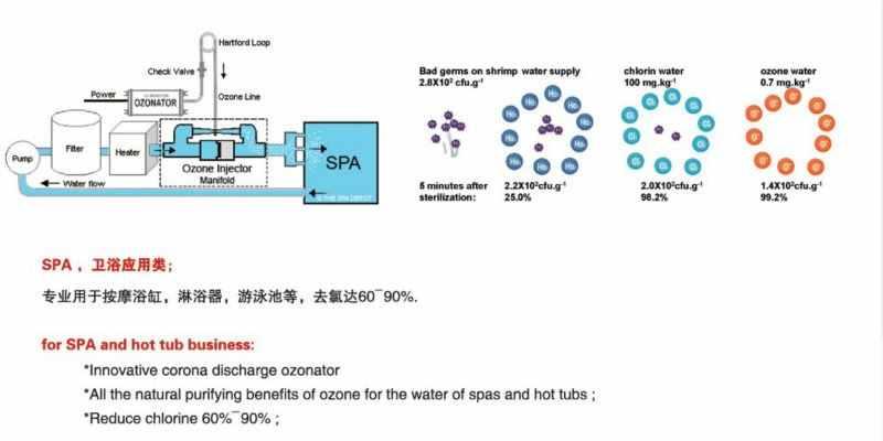 TCB-66100CLL воздушный & водный озонатор O3 озона генераотр