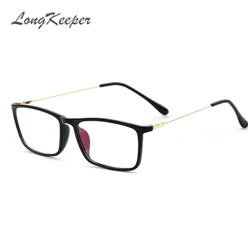 LongKeeper Marke Männer Frame Brille Mit Acetat Klar Linsen Mann ...