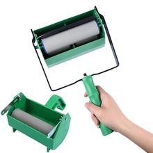 Портативный пластиковый малярный ролик ручной толчок малярные кисти ролики малярные бегуны валики щетки DIY Инструменты для украшения стен