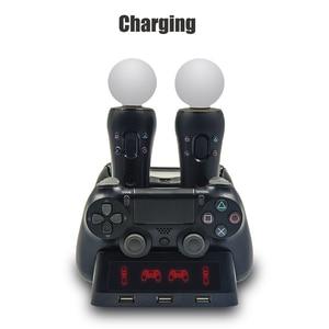 Image 5 - Светодиодный джойстик PS4 Move VR PSVR, зарядное устройство с подставкой, зарядная док станция для PS VR Move PS 4 Dualshock 4/Slim/Pro, геймпад