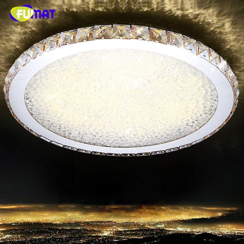 Fumat Led Ceiling Fans Crystal Light Dining Room Living: FUMAT LED Ceiling Light Modern Circular Living Room Dining