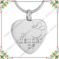 CMJ9279 In Memory Of Pet Paw Print Cremation Jewelry Ash Lockets Heart Keepsake Memorial Ash Urn Pendant&Necklace for women