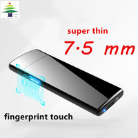 Usb Charge Electronic 702 Lighter Windproof Thin Male Personality Women Electric Heating Wire Colorful Cigarette Lighter