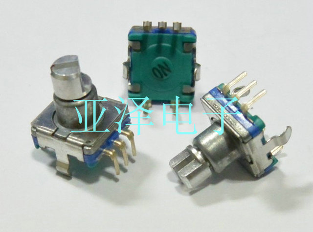 EC11 coding switch 30 positioning 15 pulse axis length 10MM amplifier coding potentiometer free shippping
