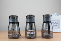 350ml Totoro Water Bottle Fruit Juice Tea Milk Cups Portable Sports Camping Cycling PC Plastic Clear