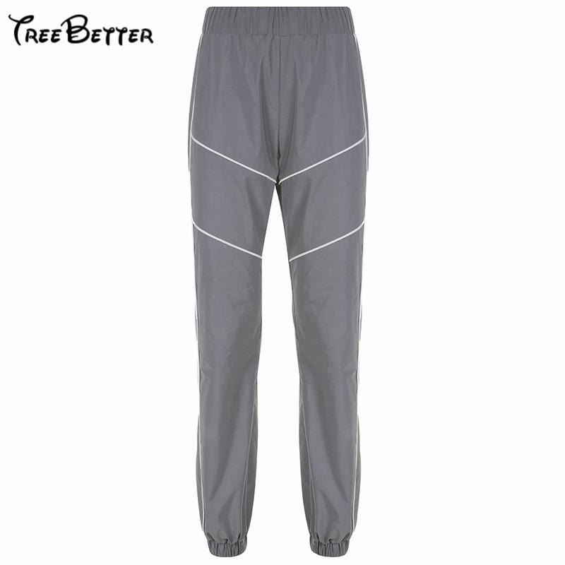 Reflective Cut Pants Women