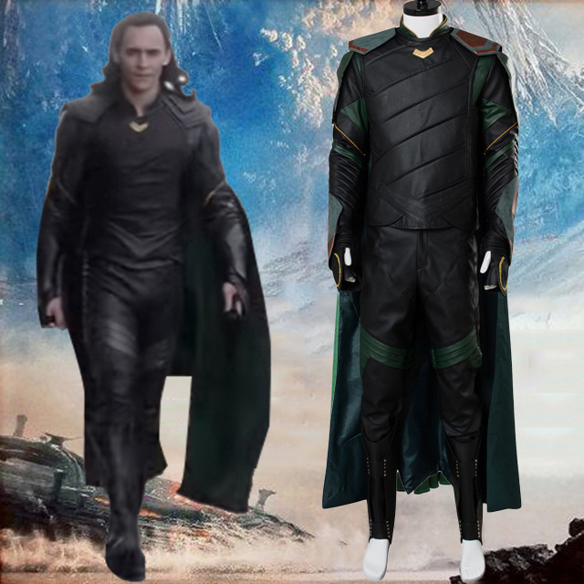 Thor Ragnarok Loki Cosplay Costume Thor 3 Loki Tom Sakaar Cosplay Costume For Adult Men Full Set