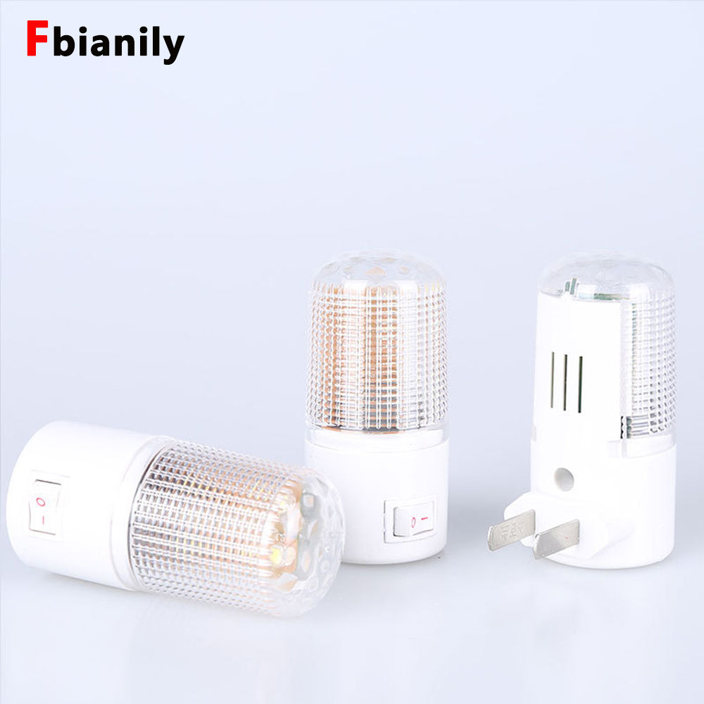 4 LEDs Wall Lamp US Plug Wall Mounted Home Lighting 3W Emergency Light LED Night Light Energy-efficient Bedside Lamp