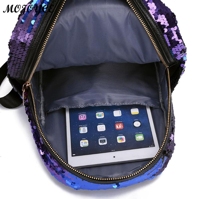 2pcs/1pc New Sequins Backpack New Teenage Girls Fashion Bling Rucksack Students School Bag With Pencil Case Clutch Mochilas #4