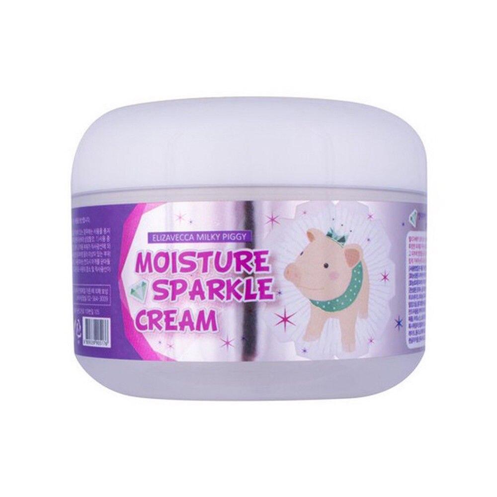 ELIZAVECCA Milky Piggy Moisture Sparkle Cream Face Care Adenosine Anti-wrinkle Niacin Amide Whitening Cream Facial Makeup Base
