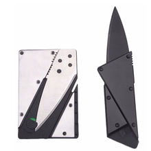 Portablesurvival sharp credit kitchen folding knife pocket hand camping wallet hunting