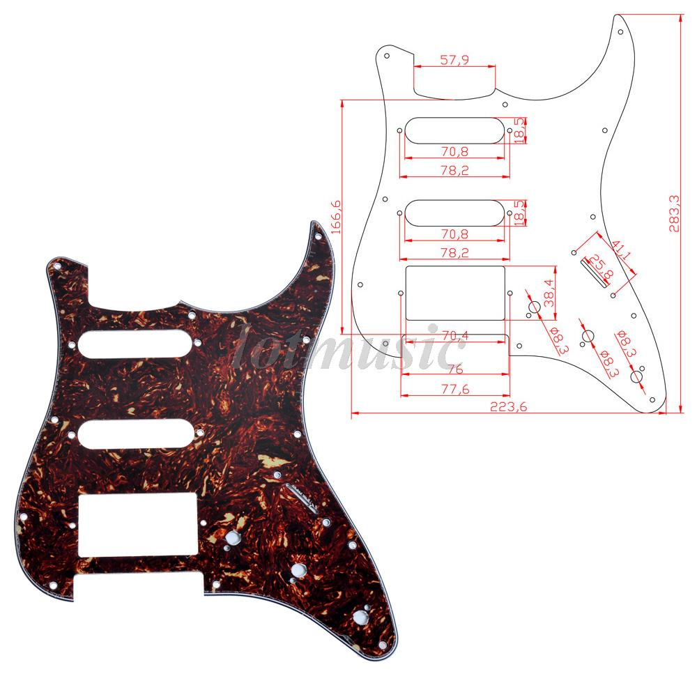 Electric Guitar Pickguard Scratch Plate HSS For ST Style Parts ...