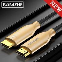 SAMZHE 4 К 60 Гц Кабель HDMI волоконно оптический кабель HDMI 2,0 2.0a 2.0b HDR для HD ТВ коробка Xiaomi проектор PS4 кабель HDMI 10 м 15 м 20 м 30 м