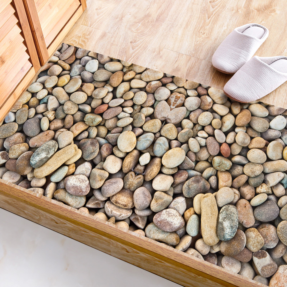 Cobblestone 3D Floor Stickers Waterproof Removable Non-slip Decal Wall Stickers Bathroom Living Room Bedroom Home Decor 60x120cm thumbnail
