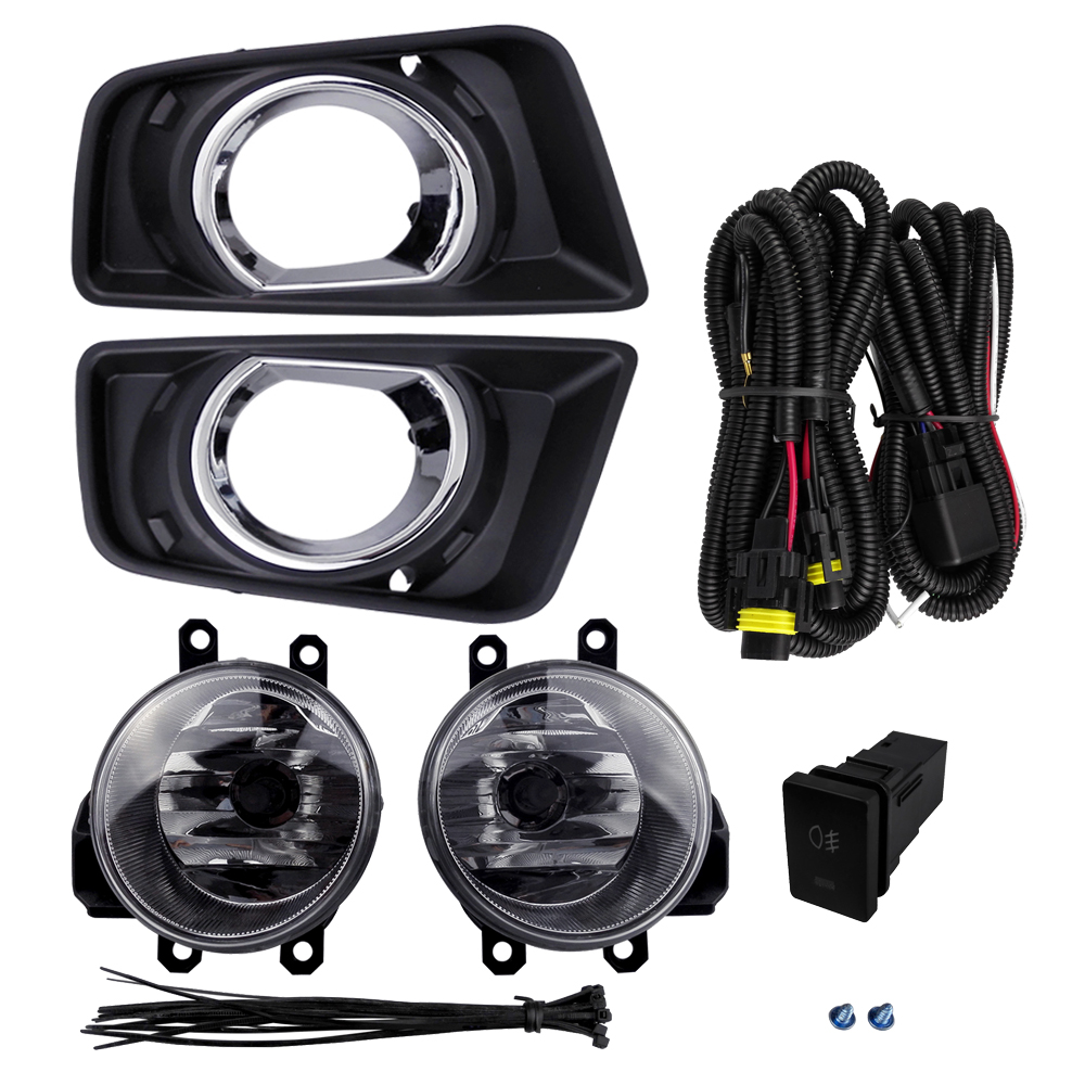 For TOYOTA HILUX REVO 2015 Fog Light Assembly Car Lights ABS Plastic 4300K Yellow 12V 55W Halogen Lamp Accessories Plating