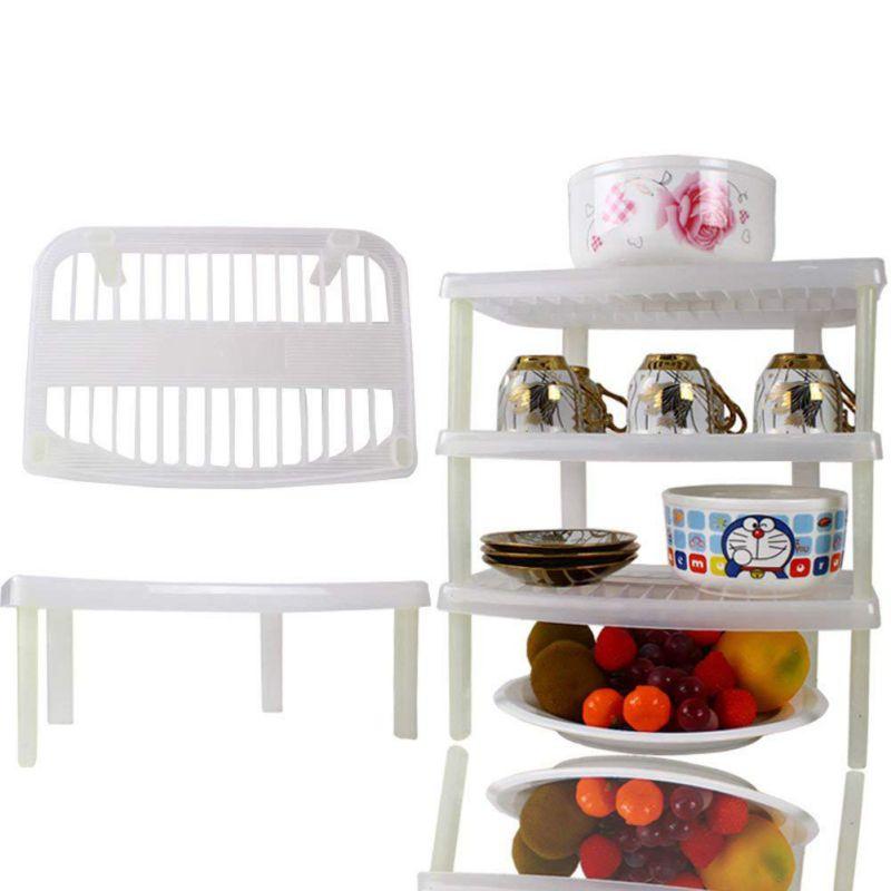 Kitchen Sink Shelf Organizer: 1 Layer Stackable Dish Organizer Multifunction Kitchen