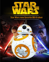 Free Shipping 17cm Star Wars RC 2 4G BB 8 Robot Upgrade Remote Control BB8 Robot