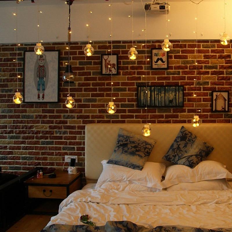 led background lights curtain plug 5m ball flashing hoomall wishing lantern decorative party diy