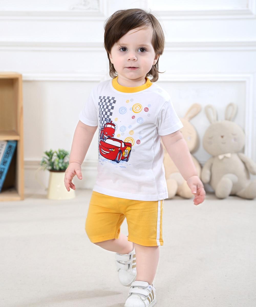 0-2 let staré Baby Boys Oblečení Set krátký rukáv Wear Boys Set Baby Boy letní oblečení Baby oblečení v 100% bavlna dresu
