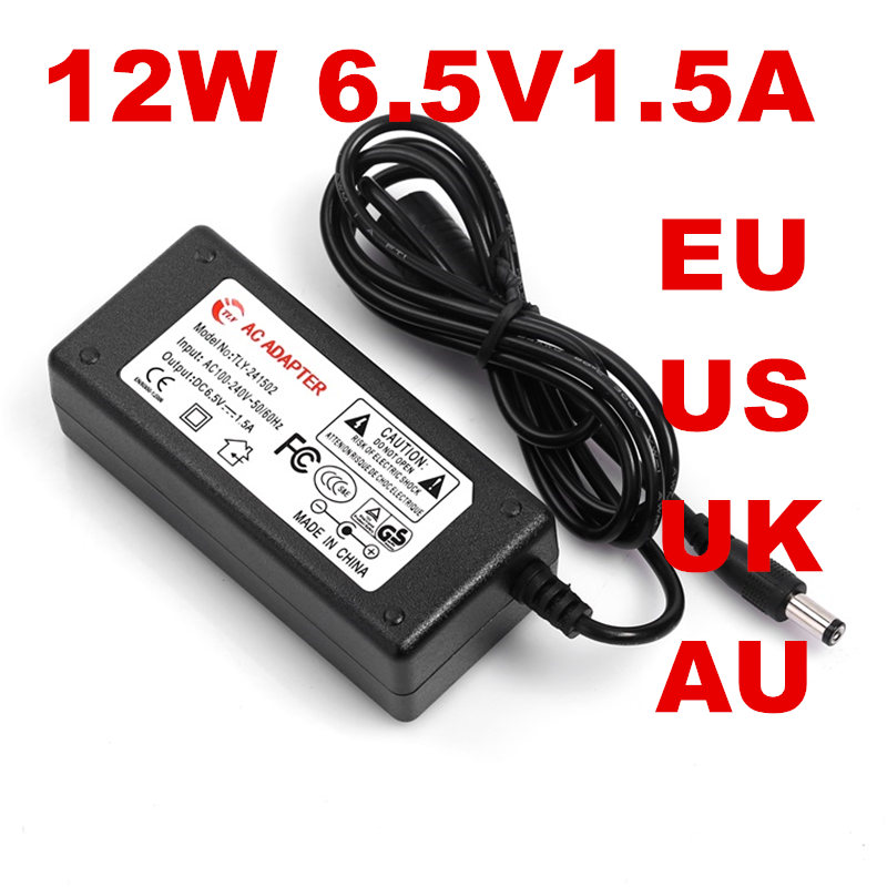 100PCS US EU UK AU plug AC line 1.5M + DC line 1.2M AC100-240V to DC 6.5V 1.5A 12W Power Adapter 6.5v1.5a Ac Adapter 2 pcs children girls clothing sets spring little teenage girls sport suit school kids clothes tracksuit striped tops pants set