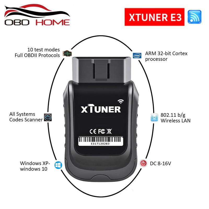 XTUNER E3 Wifi OBD2 Car Diagnostic Tool ODB2 ABS Engine SRS AC Read Fault Code Automotive