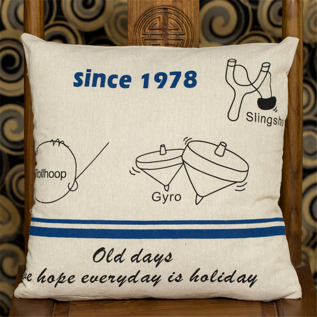 Airplane Letter Cartoon Decorative Sofa Seat Chair Cushion Cover Bed Delectable Airplane Decorative Pillow