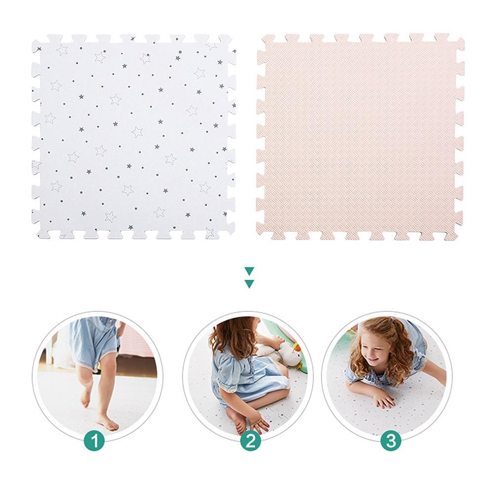 Bébé EVA mousse jeu Puzzle tapis entrelacé exercice gypsophile tapis de sol tapis pour enfant jouets tapis pour enfants chaque 50*50 cm - 3
