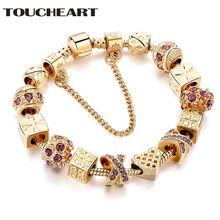 Toucheart золотые индивидуальные Подвески в виде любовных звеньев