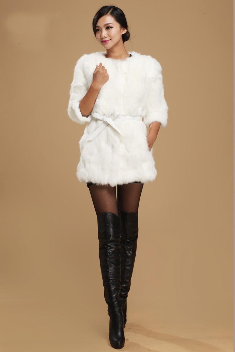 New Genuine Real Genuine Natural Rabbit Fur Coat Women Rabbit Fur Winter Fur Waistcoats Custom Big Size Free Shipping TFP258
