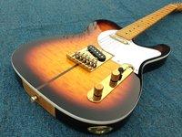 Auf lager TL e-gitarre quilted maple top weiße perle tuning machine made in koreanischen. rosenholz truss loch