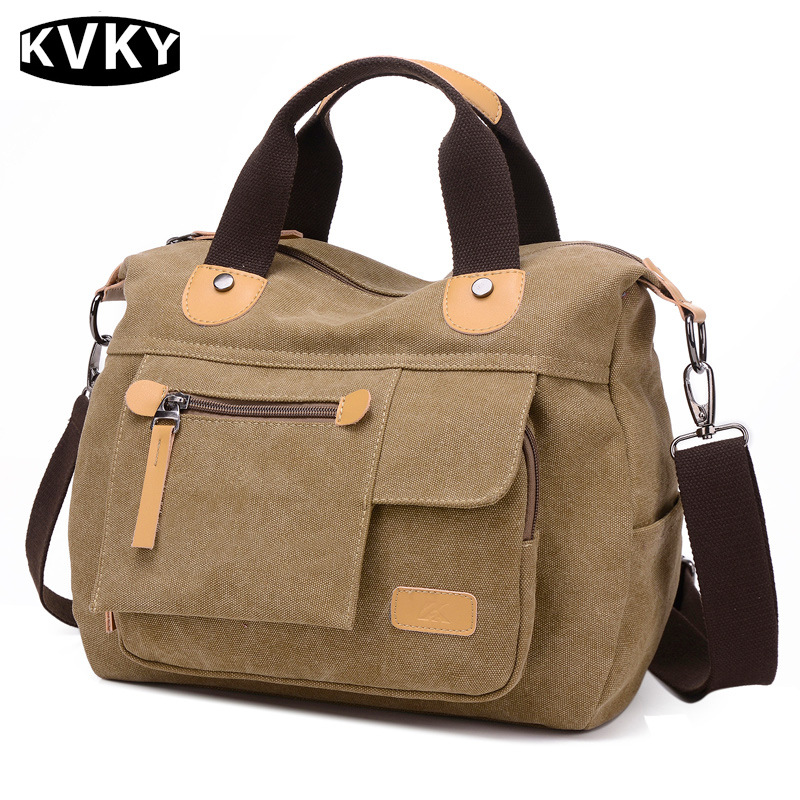 KVKY New Women Canvas Bag Vintage Women Messenger Bag For Woman Handbags Shopping Bag Casual Shoulder Bags Bolsa Feminina WH443 forudesigns casual women handbags peacock feather printed shopping bag large capacity ladies handbags vintage bolsa feminina