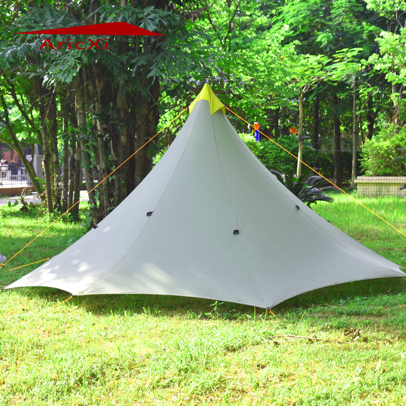 Ultralight Outdoor Camping Teepee 20D Silicon nylon Pyramid Tent 1-2 Person Large Tent Waterproof Backpacking Hiking Tents 210t oudoor light weight backpacking ultralight camping rodless pyramid tent for hiking camping fishing wind firm waterproof