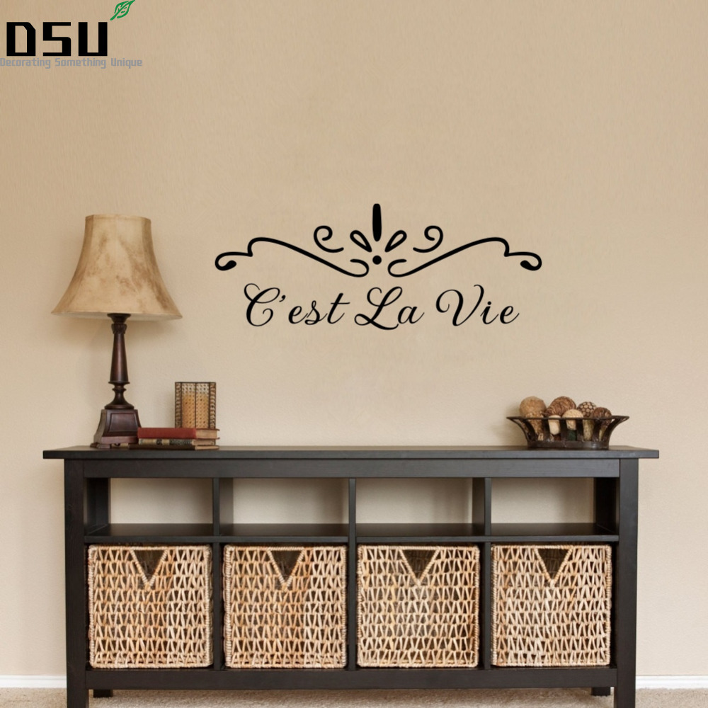 French Quotes C Est La Vie Wall Decal Lettering Stickers Home