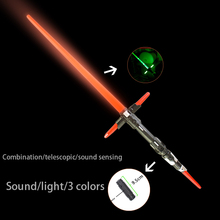 2 stykker Sound Lightsaber Cosplay Props Blinkende Sword for Kids Double Light Saber Toy Sword for Boys Gaver Kombination Legetøj