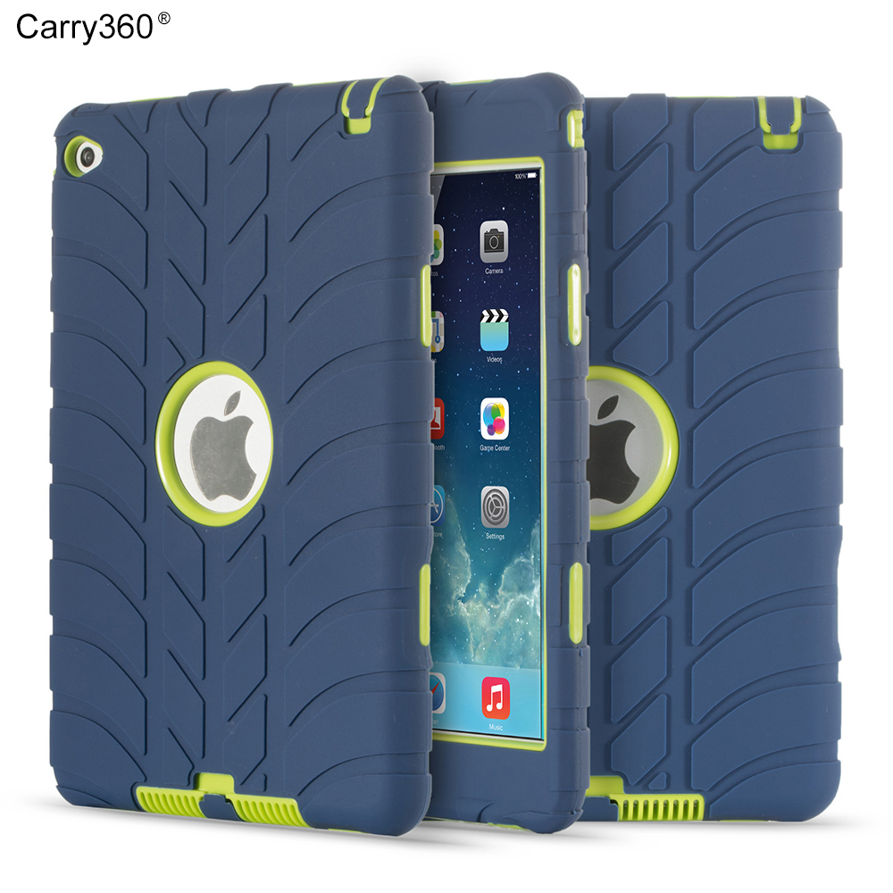 Carry360 Hybrid Armor Case For iPad Mini 4 Cover  Kids Safe Shockproof Heavy Duty Silicone Hard drop resistance tablet for ipad mini4 cover high quality soft tpu rubber back case for ipad mini 4 silicone back cover semi transparent case shell skin
