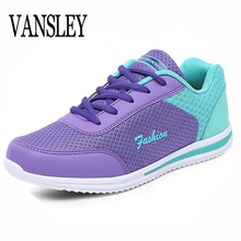 Hot Sales 2017 New Femme Summer Zapato Women Breathable Mesh Zapatillas Shoes Women Network Soft Casual Shoes Wild Flats Casual(China)