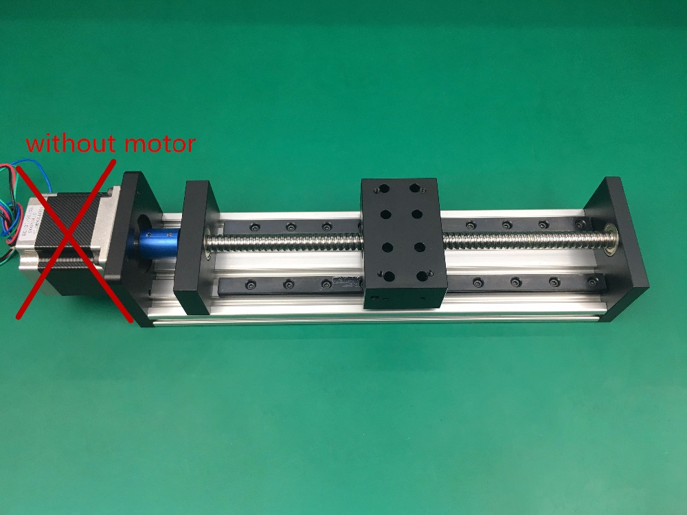 High Precision GX80*50mm Ballscrew 1204 250mm Effective Travel WITHOUT Stepper Motor Stage Linear Motion single block toothed belt drive motorized stepper motor precision guide rail manufacturer guideway