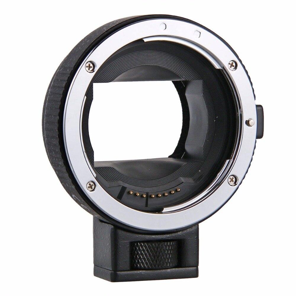 Enfoque automático EF-NEX lente adaptador de montaje para Canon EF EF-S lente a E montaje NEX A7 A7R A7s NEX-7 NEX-6 5 Cámara Full Frame