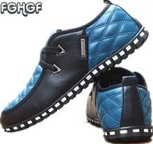 Nueva Primavera de los hombres de moda zapatos casuales para hombre zapatos de Negocio del conductor de los hombres zapatos mocasines de cuero blanco zapatos casuales hombre Tufli