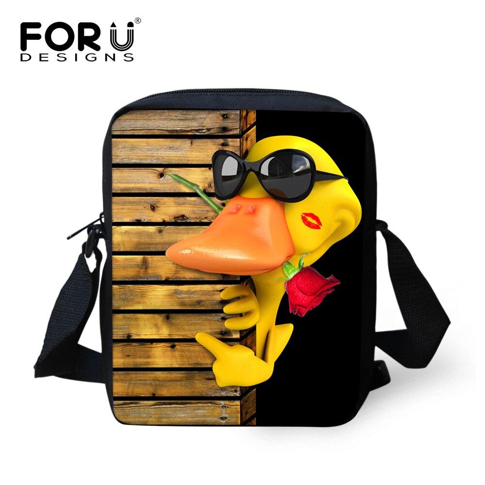 FORUDESIGNS 2018 Musette Bag One Shoulder Small Satchel Boys Girls Mini Travle Bag Light Book BagsCartoon inclined shoulder bag