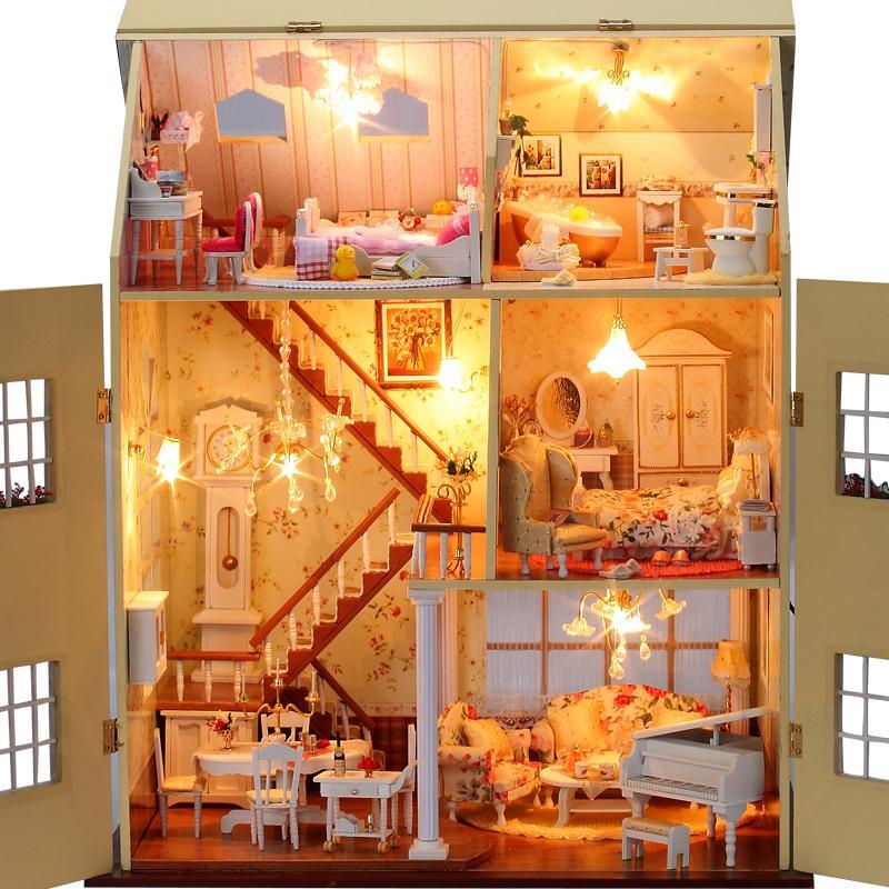 Diy Large Doll House Years Fairy Tale Handmade Villa 3d
