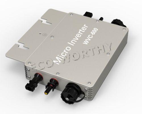5PCS 600W 110V Waterproof Grid Tie Inverter Pure Sine Wave MPPT For Solar Panel