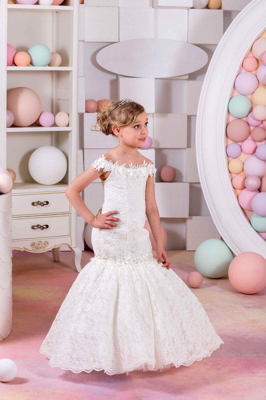 Petites Shoulderless Same Pic As Première Sirène Fille Robes Mariages Pour Fleur Nouveau Blanc Communion Chaude Dentelle Filles Vente Ivoire axqBEaf