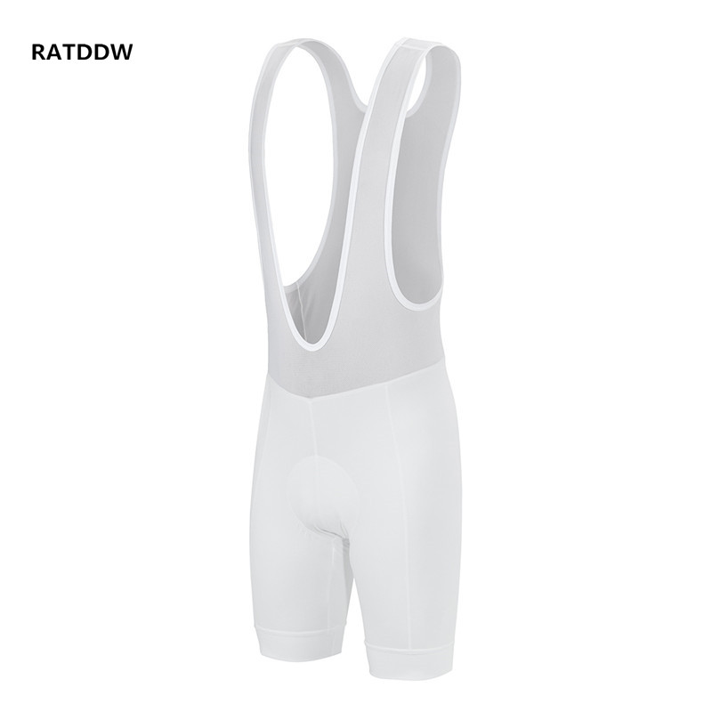 White Cycling Shorts Men Bicycle 4D Pad Bicycle Cycling Bib Shorts Padded Bicycle Shorts Size XS-4XL