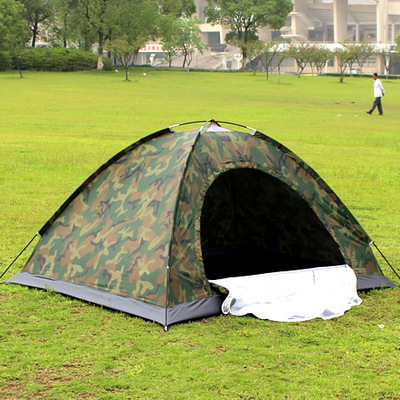 ФОТО free shipping ultralight  3-4 person outdoor waterproof camping camouflage military tent
