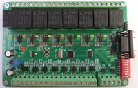 Free Shipping Relay Control Board 8 Input 8 Output RS485 RS232 CAN
