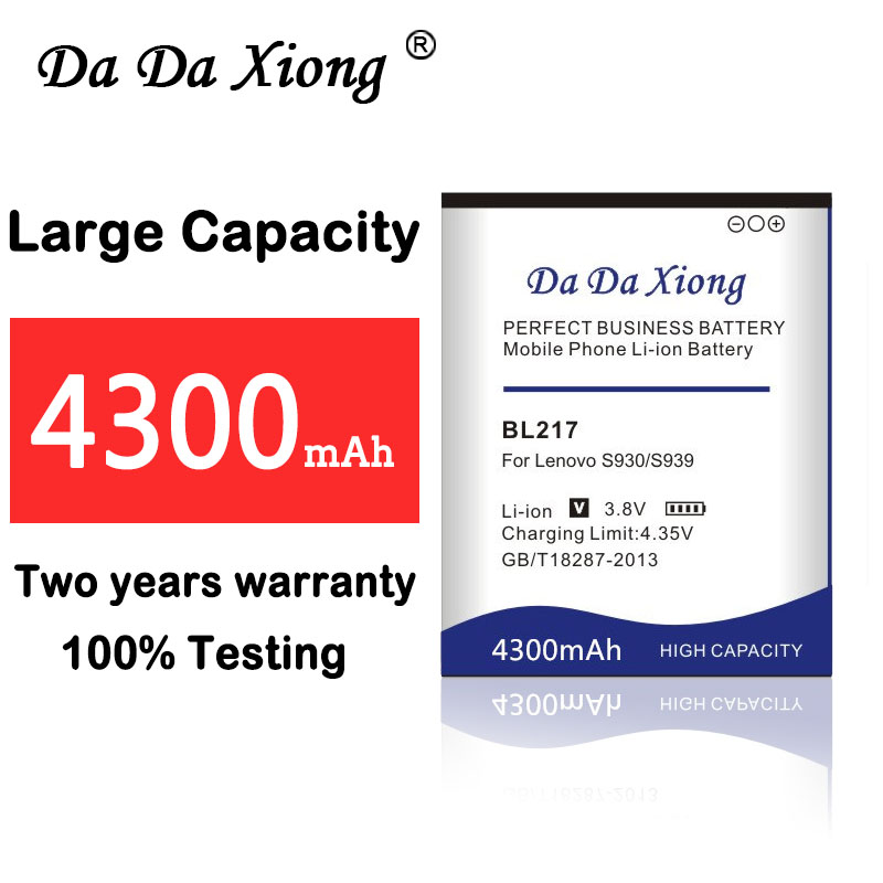 Da Da Xiong 4300mAh BL 217 BL217 <font><b>Battery</b></font> for <font><b>Lenovo</b></font> <font><b>S930</b></font> S939 S938t <font><b>battery</b></font> image