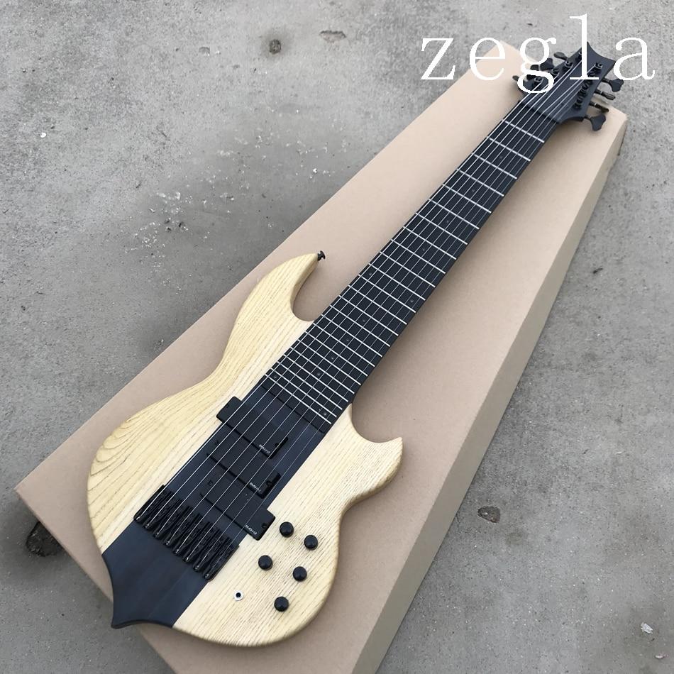 Haute qualité personnalisé 8 cordes guitare basse électrique pick-up fermé peut être personnalisé comme requis livraison gratuite